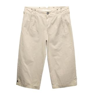 Pringle of Scotland Beige Cropped Trousers