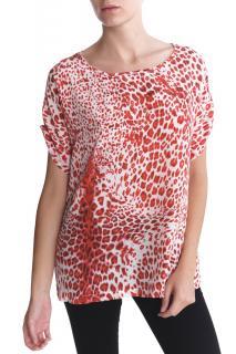 Pierre Balmain Leopard Print Silk Oversized Top