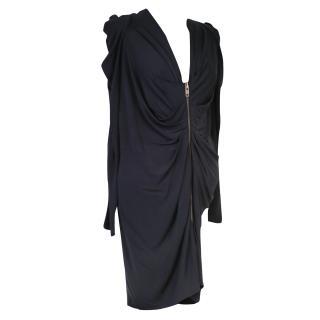 MCQ McQueen Black Jersey Dress