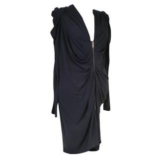 MCQ McQueen Black Jersey Dress