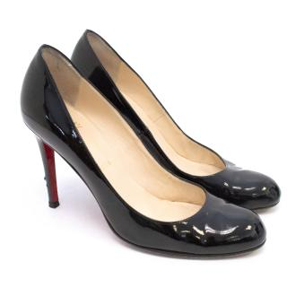 Christian Louboutin Black Patent 'Simple' Courts