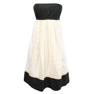 Philosophy Di Alberta Ferretti Black and Cream Dress