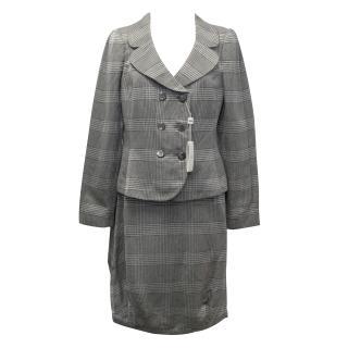 Armani Collezioni Grey Galles Jacquard Skirt Suit