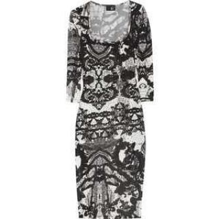Just Cavalli Lace Effect Dress