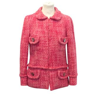 Marc Jacobs Pink Cotton Wool Tweed Jacket
