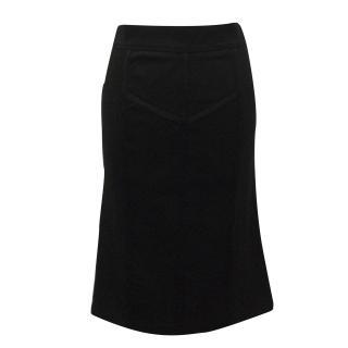 Burberry Black Mesh Panel Pencil Skirt