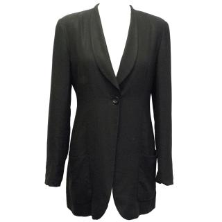 Emporio Armani Black Long Blazer