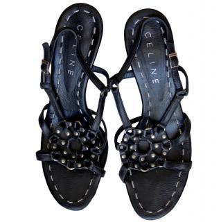 Celine Dreamcatcher Black Sandals