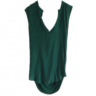 By Malene Birger Green Myras Silk Dress/Tunic