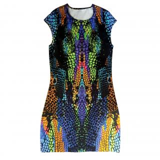 McQueen mini printed dress