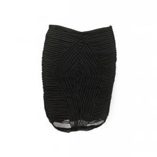 The Kooples Black Rope Skirt