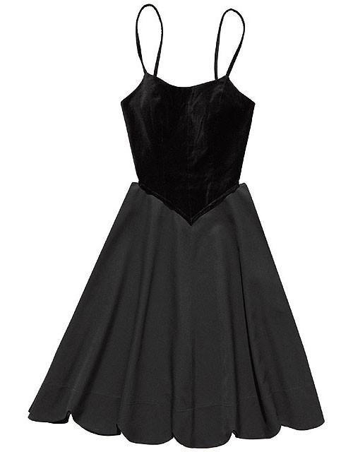 Comme Des Garcons H&M Black Cut out dress