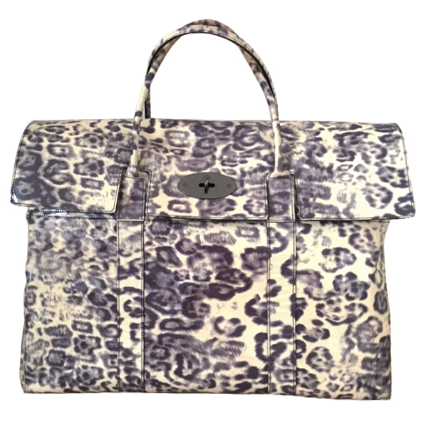 1af4b104b049 Mulberry Piccadilly Smudged Leopard Print Holdall049008