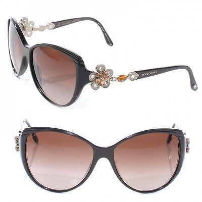 ada86f2515 Bvlgari 8097b Brown Swarovski Flower Sunglasses049441