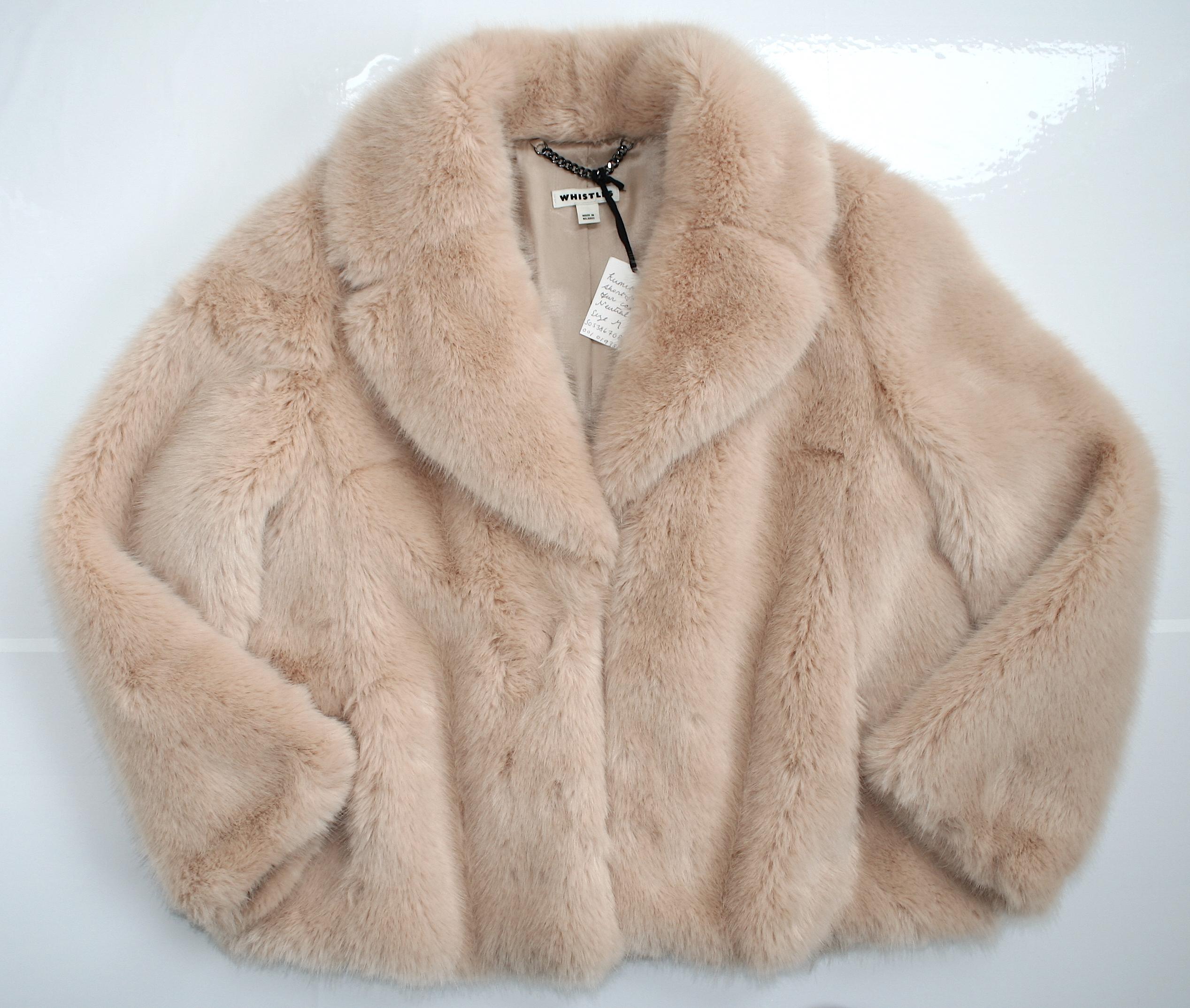 Girls' Faux Fur Coat Alabaster White
