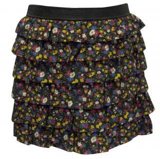 Luella Floral Ruffled Skirt