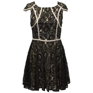 Finders Keepers 'Mr Jones' Black and Nude Lace Dress