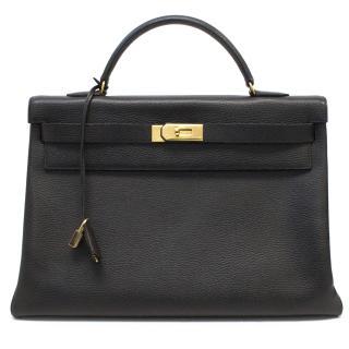 Hermes 40cm black Kelly bag