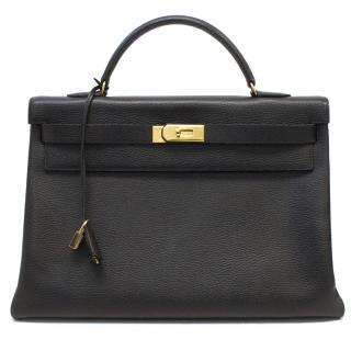 Hermes 40cm black Kelly bag
