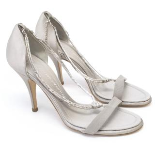 Giuseppe Zanotti Silver Embellished Sandals
