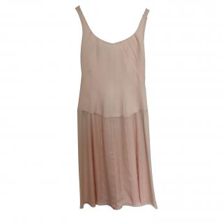 New Narciso Rodriguez Peach fitted dress
