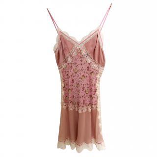 D&G Pink Lace Print Dress