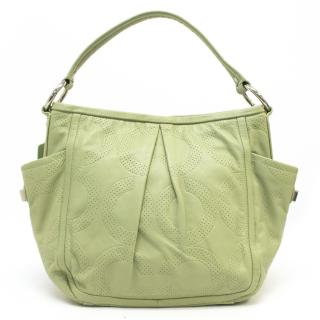 Coach Lime Green Perforated Bag