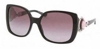 Bvlgari 8081-B Black / Purple Swarovski Crystal Sunglasses