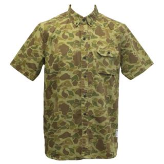 Penfield Green Camouflage Short Sleeved Cotton Shirt