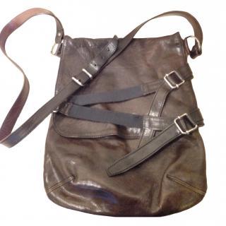 Brown leather Dries Von Noten messenger bag