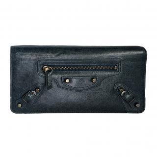 Balenciaga classic money wallet in Anthracite