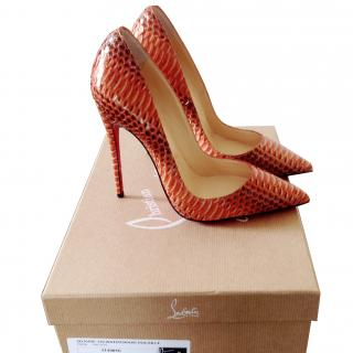 Christian Louboutin 'So Kate' watersnake pumps