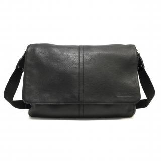 Coach Sullivan Black Leather Messenger Bag