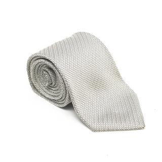 Turnbull & Asser White Lace Silk Tie