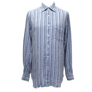 Ermenegildo Zegna Striped Linen Shirt