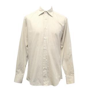 Z Zegna Beige Linen/Cotton Shirt