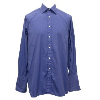 Pink Thomas Pink Periwinkle Blue Cotton Shirt
