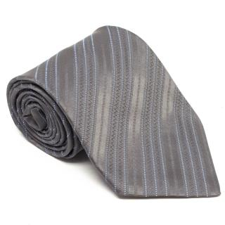 Charvet Grey and Blue Striped Tie
