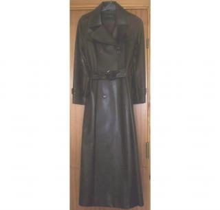 fe9bf213aae Patrick Cox Faux Leather Ladies Coat