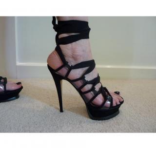 Yves Saint Laurent Platform Sandal with material laces