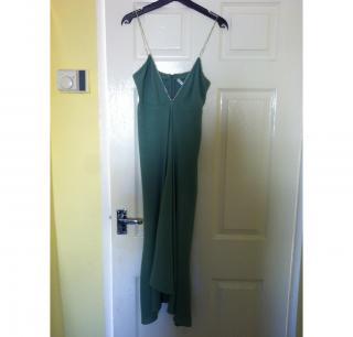 Gharani Strok -  Olive Green 3/4 length stroppy Dress