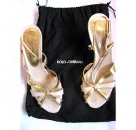 Dolce & Gabbana Gold Sandals