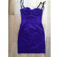 D&G Dolce & Gabbana Purple Bustier Dress EU 42 / UK 8