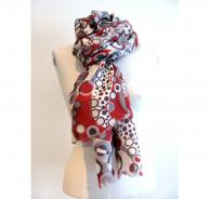 Toosh Red & Grey Kea Cashmere Scarf