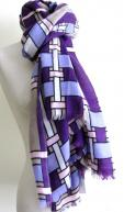 Toosh Purple Syros Cashmere Scarf
