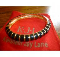 Kenneth Jay Lane Black/Gold Bangle
