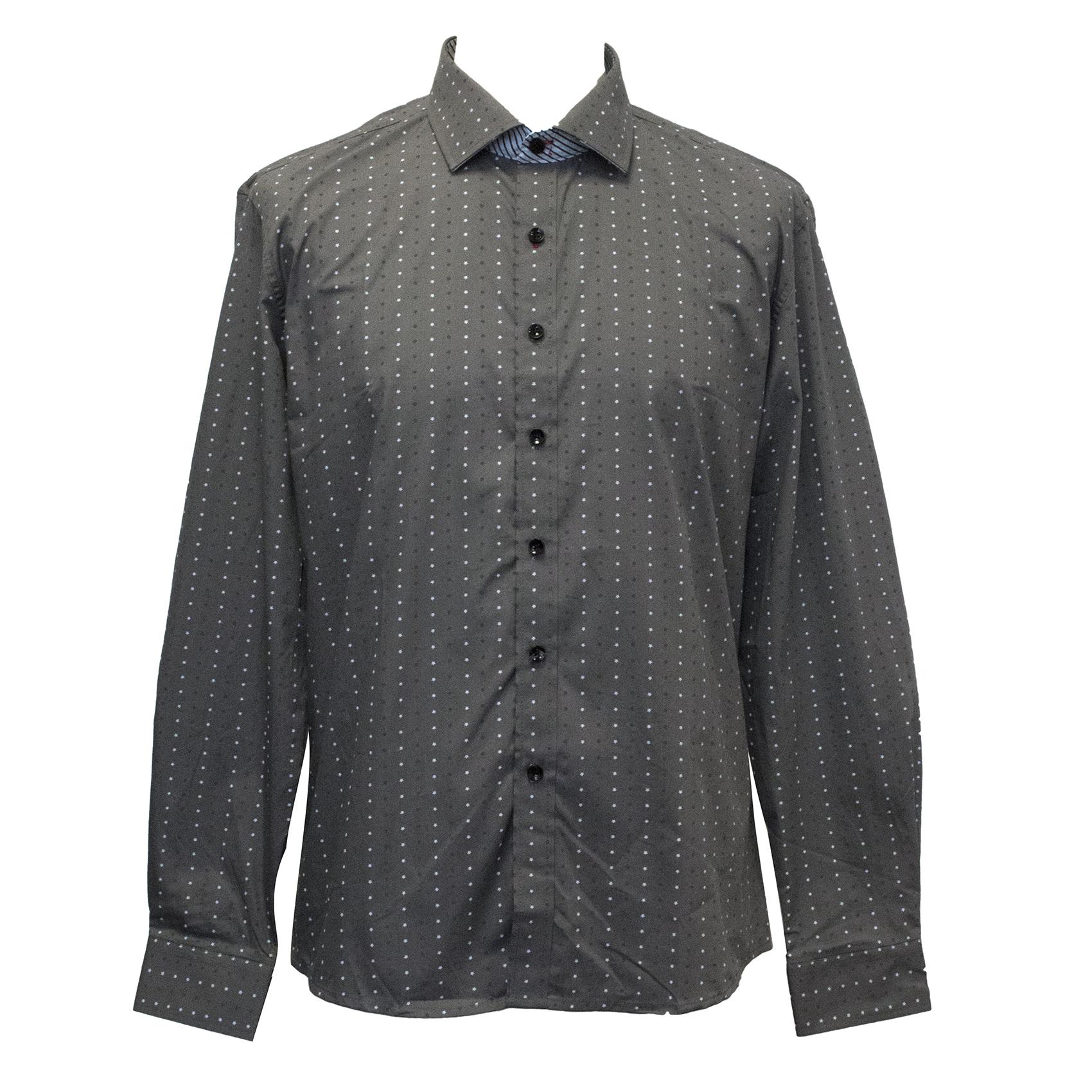 Definitive Grey Star Dot Poplin Shirt