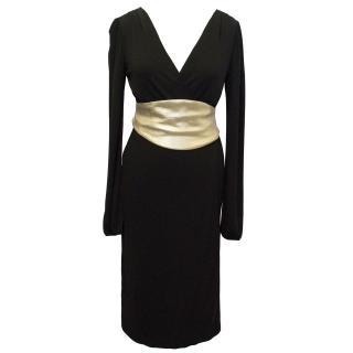 DVF Black Wrap dress