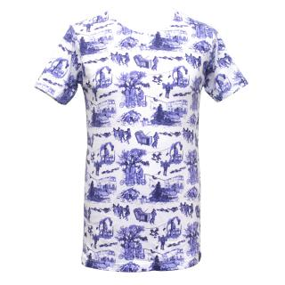 Sibling White T-Shirt with Blue London Print