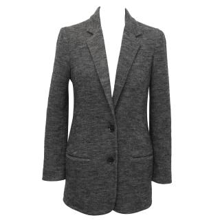 Vince Grey Wool Herringbone Blazer